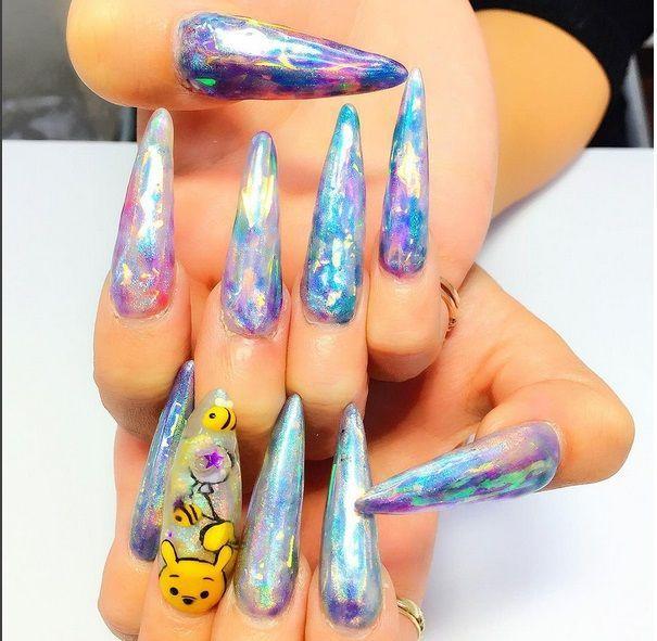 Aquarium Nail, Winnie the Pooh