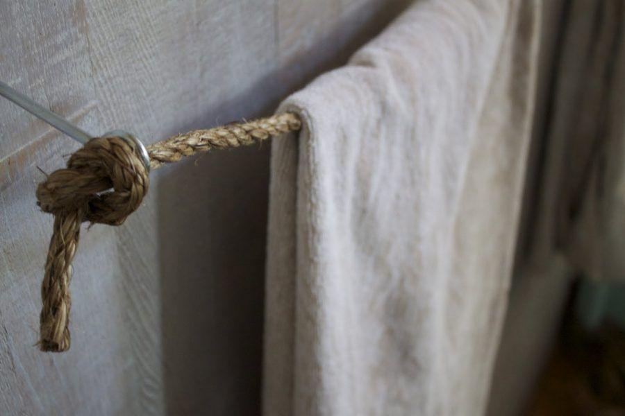 Porta asciugamani porta canovacci fai da te