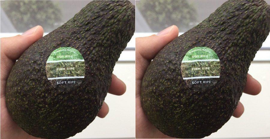 L'adesivo per capire se un avocado è maturo