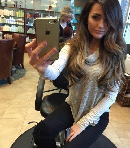 Balyage con capelli lunghi e mossi