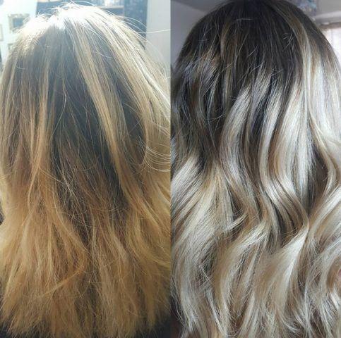 Balayage con capelli lunghi