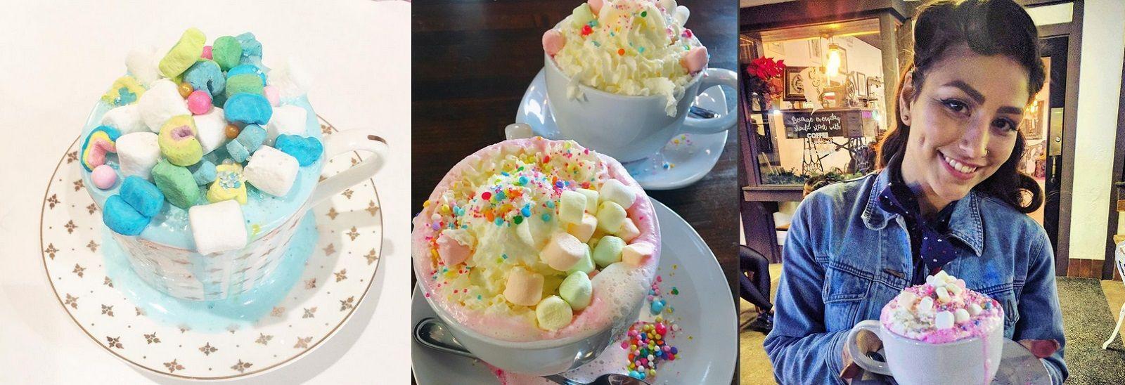 Volete una tazza di cioccolata calda in stile unicorno?