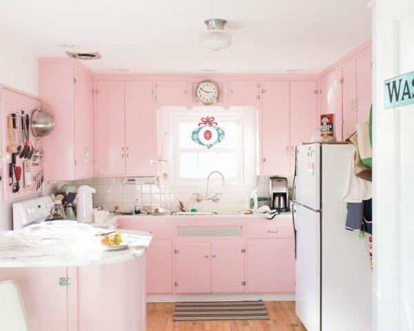 Una cucina rosa quarzo