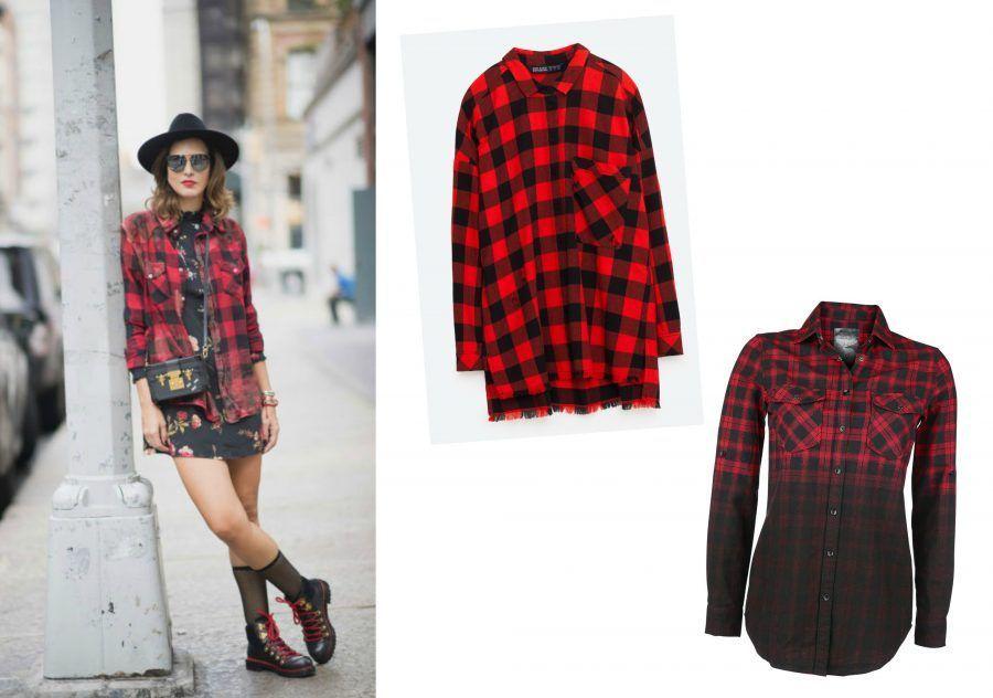 Molto Come indossare la camicia a quadri rossi e neri | Bigodino QB39