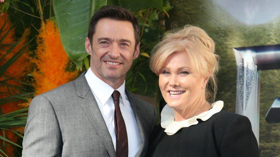 Hugh Jackman con la moglie