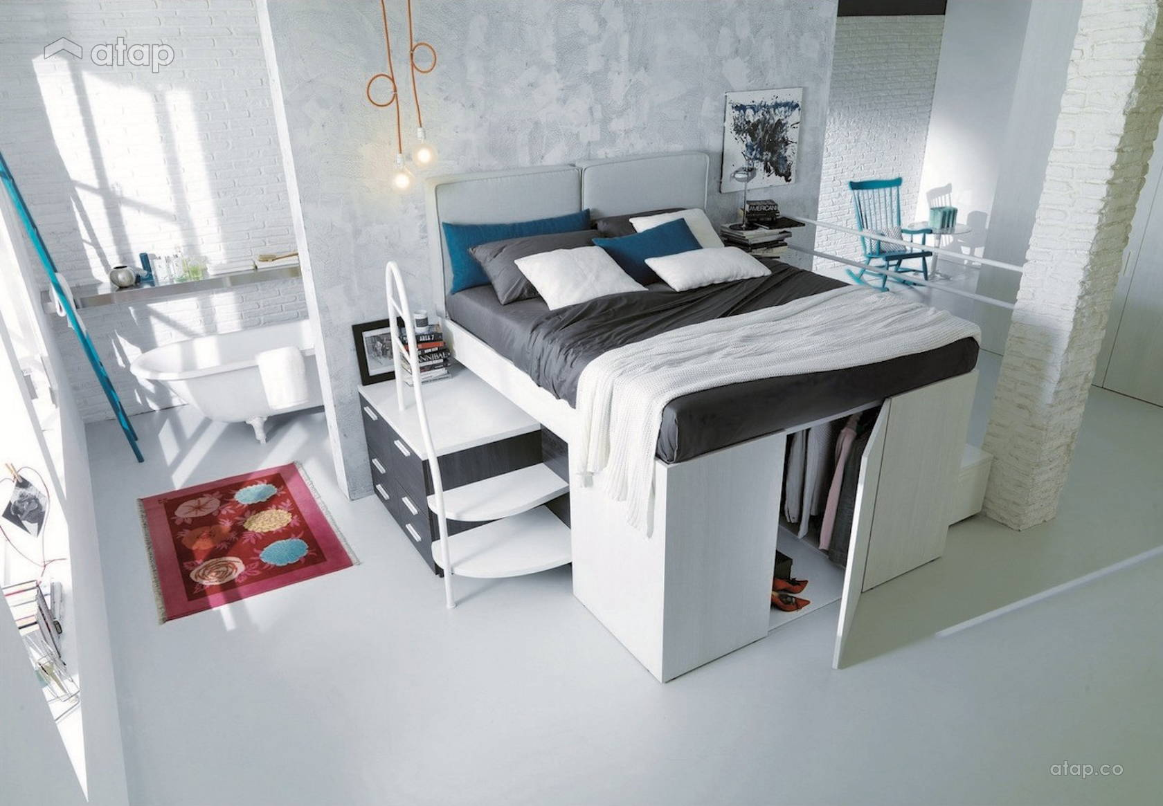 Come arredare una camera da letto piccola: le idee salvaspazio ...