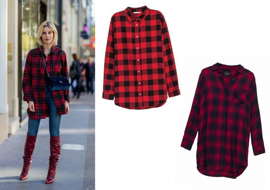 Popolare Come indossare la camicia a quadri rossi e neri | Bigodino NI71