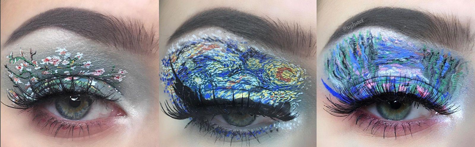 Occhi come capolavori dell'arte con questo make up