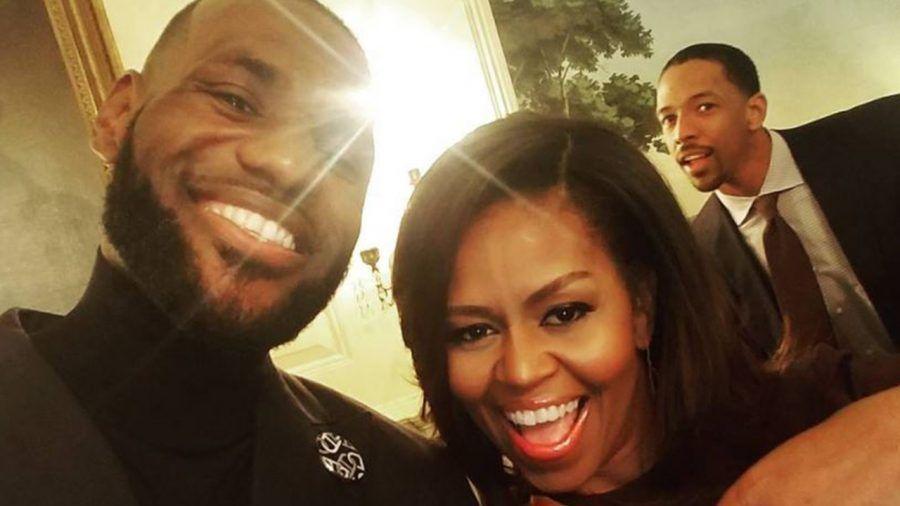 Michelle e il mannequin challenge con i Cleveland Cavaliers