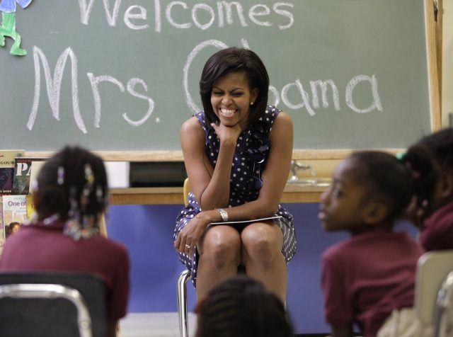 Gomito appoggiato per Michelle Obama