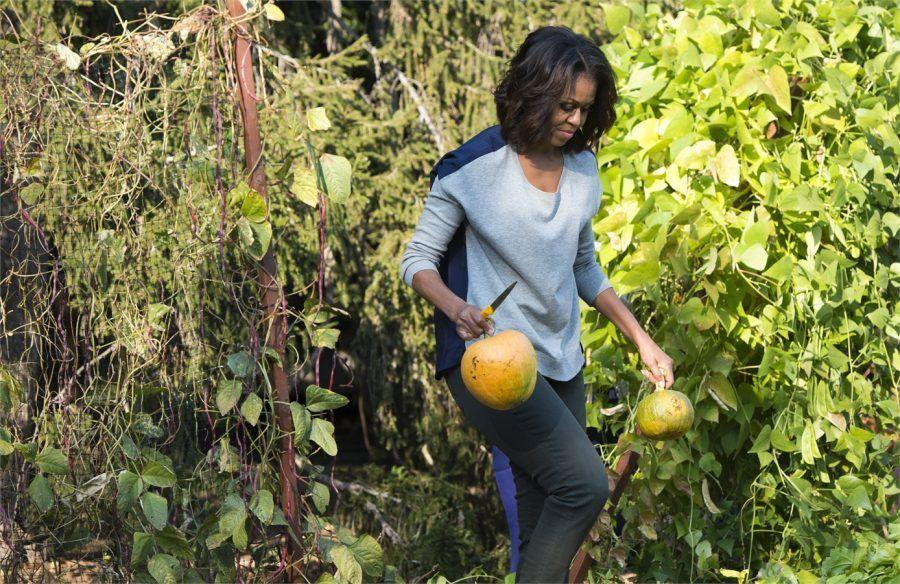 Michelle nel suo orto