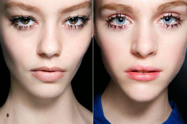 Due esempi di clumpy mascara
