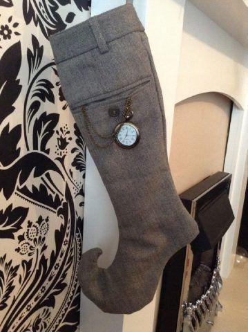 Calza ricavata da pantaloni