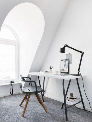 Scrivania dallo stile industriale perfetta anche per piccoli spazi!