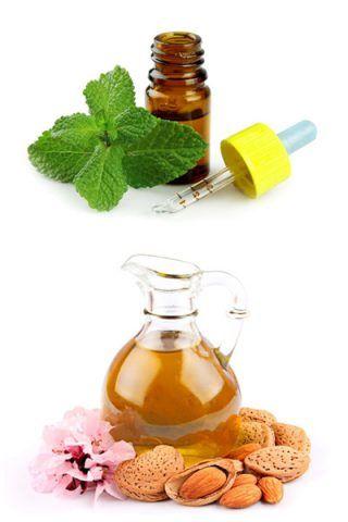 Trattamento a base di olio di mandorla e olio essenziale di menta