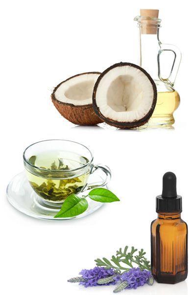 Crema viso con tè verde, olio di cocco e olio essenziale di lavanda