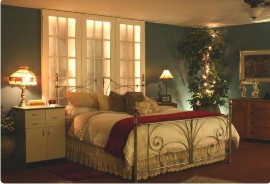 Luci a LED in camera da letto