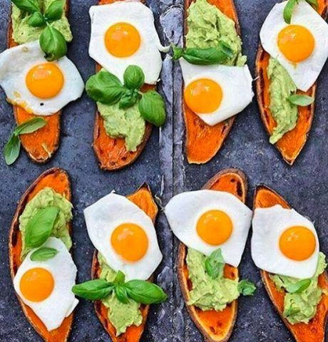 Sweet potato toast con uova