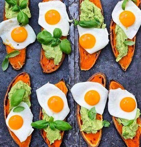 Sweet potato toast con uova