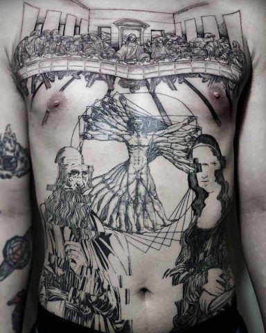 Tatuaggi ispirati a famosi dipinti: Leonardo Da Vinci