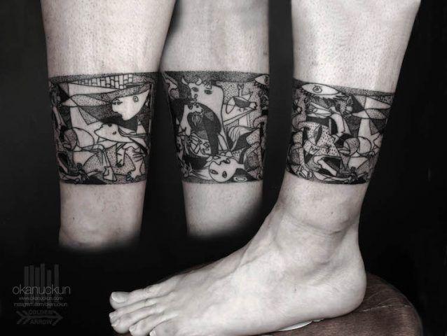 Tatuaggi ispirati a famosi dipinti: Guernica di Pablo Picasso