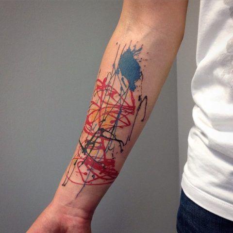 Tatuaggi ispirati a famosi dipinti: Jackson Pollock