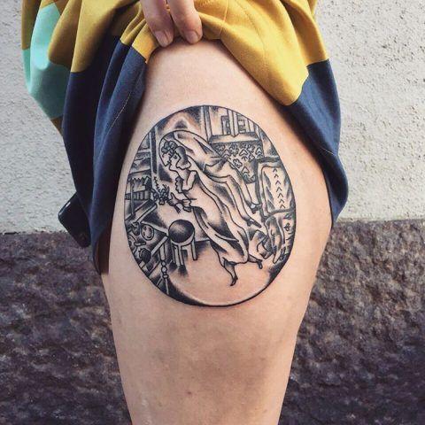 Tatuaggi ispirati a famosi dipinti: Marc Chagall