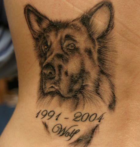 Tatuaggio dedicato ai cani che non ci sono più