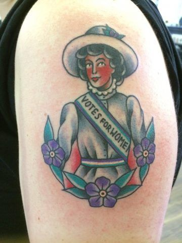 Tatuaggi femministi, le suffragette