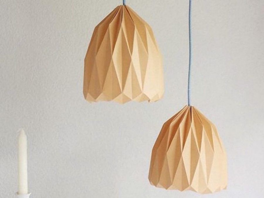 Lampadario origami diy