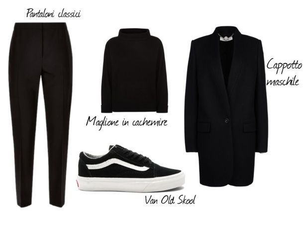 Un look total black per indossare le Vans Old Skool