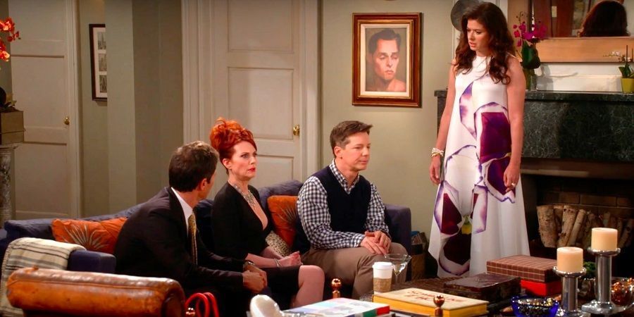Una scena del telefilm di Will & Grace