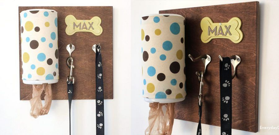 Diy idee creative per porta guinzagli da quattrozampe for Porta sacchetti ikea