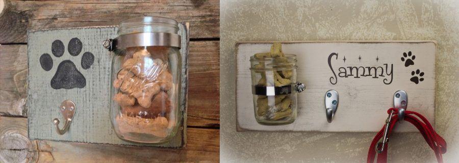 Porta-guinzaglio con porta-biscotti