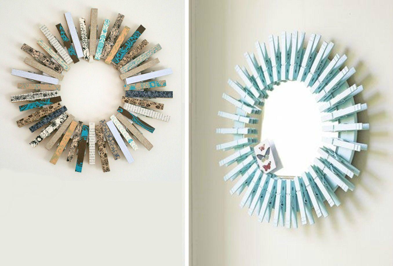 Idee creative per realizzare le cornici da foto bigodino - Decorazioni cornici fai da te ...