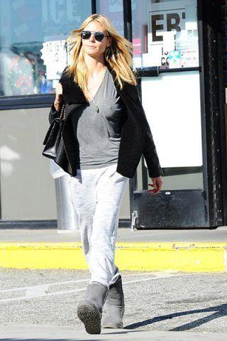 Heidi Klum li porta anche in palestra con pantaloni della tuta e una felpa