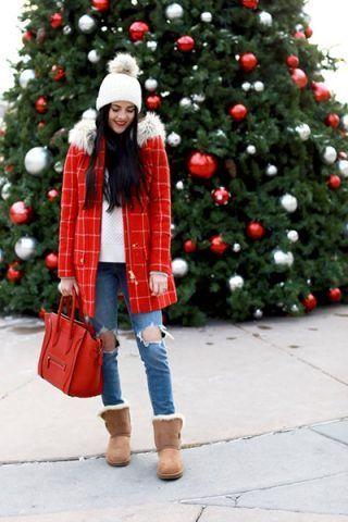 Cappotto colorato + jeans