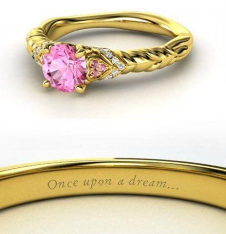 Aurora- anello con zaffiro rosa