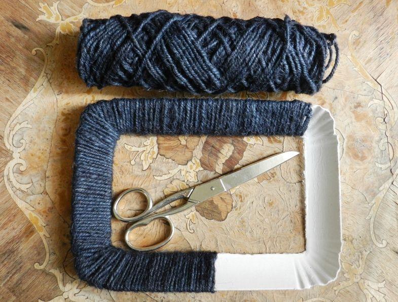 Cornice con filo di cotone