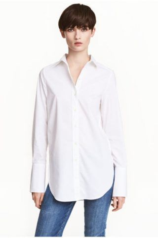 Camicia bianca di cotone (19,99 €)