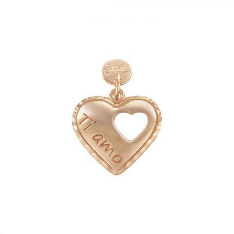 Charm in argento 925 rosato e glitter €24,90 Stroili