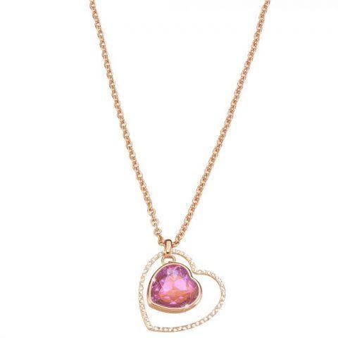 Girocollo cuore in metallo rosato e pietre colorate €64,90 Stroili