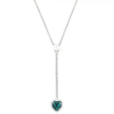 Girocollo cuore in metallo rodiato e pietre colorate €42,90