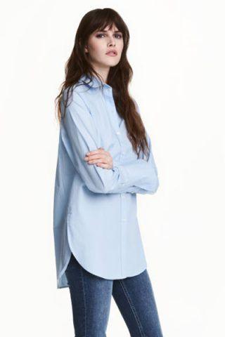 Camicia azzurra di cotone (19,99 €)
