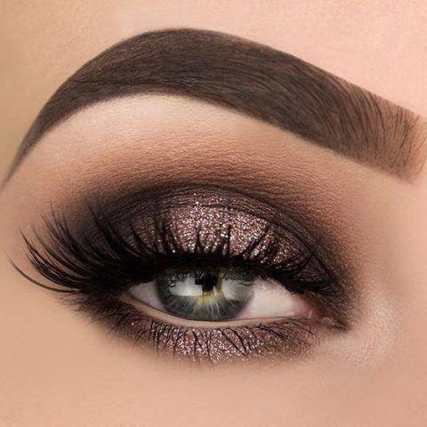 Smokey eye con glitter