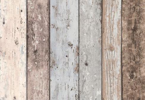 Carta da parati effetto legno: