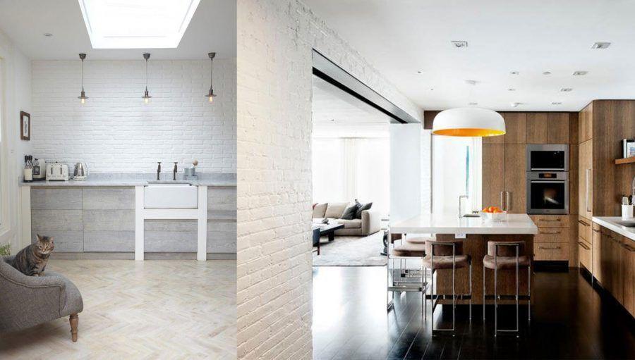 Decorare casa con i mattoni faccia a vista bigodino - Cucina in mattoni faccia vista ...