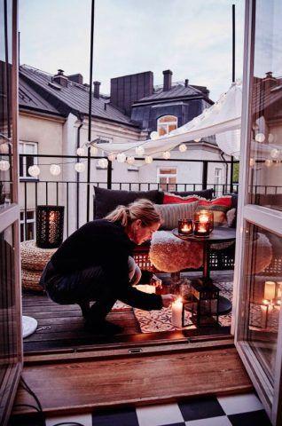 Cenare sul terrazzo