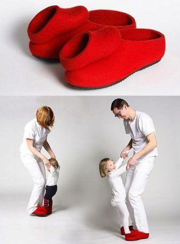 Pantofole per giocare con i figli