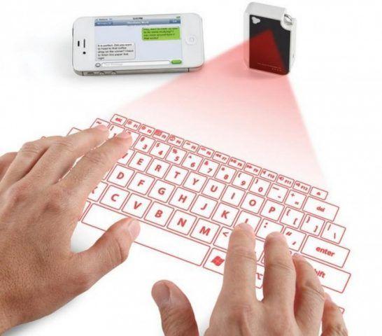 Laser proietta tastiera